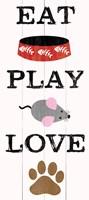 Eat Play Love - Cat 1 Framed Print