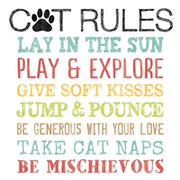 Cat Rules Fine Art Print