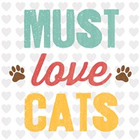 Must Love Cats Framed Print