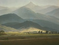 Landscape with Mountains Fine Art Print