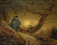 Two Men Observing the Moon, 1819-1820 Fine Art Print