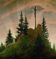 The Cross in the Mountains  1807-1808 Fine Art Print