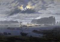 Northern Sea by Moonlight Fine Art Print