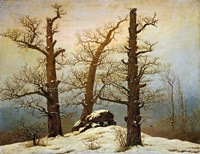 Megalithic Cairn in the Snow, c. 1820 Fine Art Print
