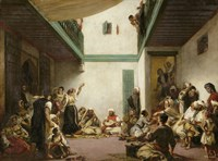 A Jewish Wedding in Morocco, 1839 Fine Art Print