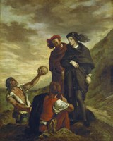 Hamlet and Horatio in the Cemetery, 1839 Fine Art Print