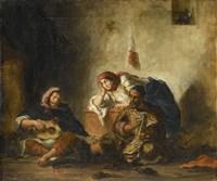 Jewish Musicians from Mogador Fine Art Print