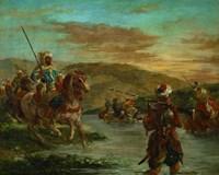 Fording a River in Morocco, 1858 Fine Art Print
