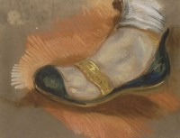 Study of a Slipper, 1827-1828 Fine Art Print