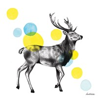 Sketchbook Lodge Stag Fine Art Print