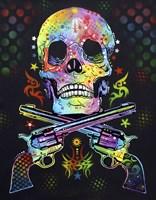 Skull & Guns Fine Art Print