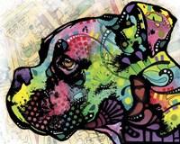 Profile Boxer Deco Fine Art Print