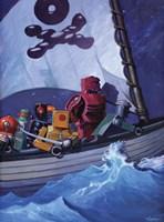 Robo Pirates CMYK Fine Art Print