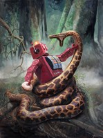 Snakefight Fine Art Print