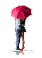 Red Umbrella Fine Art Print