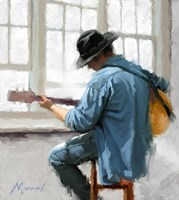 Guitar Player Fine Art Print