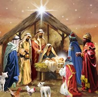 Nativity Collage Fine Art Print