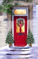 Xmas Red Door 2 Fine Art Print