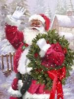 Santa waving Fine Art Print