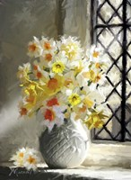 Daffodils At Window Fine Art Print