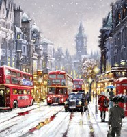 Whitehall In Snow Fine Art Print