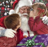 Whispering To Santa Fine Art Print