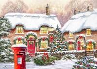 Winter Cottages 2 Fine Art Print