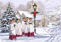 Christmas Choir 2 Fine Art Print