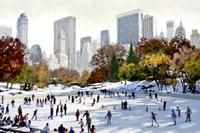 Skating In New York Fine Art Print