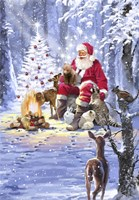 Santa's Campfire Fine Art Print