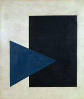 Black Square, Blue Triangle, 1915 Fine Art Print