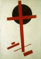 Red Cross on Black Circle, 1920-27 Fine Art Print