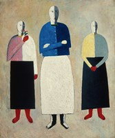 Three Women, c. 1923 Fine Art Print