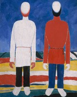 Two Male Figures, 1928-1932 Fine Art Print