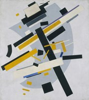 Suprematism (Supremus, no 58 Black and Yellow), 1916 Fine Art Print