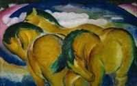The Small Yellow Horses, 1912 Fine Art Print