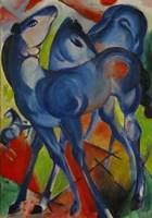 Blue Fillies, 1913 Fine Art Print