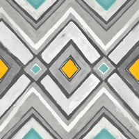 Chevron Tile Black/White II Framed Print