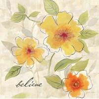 Bright Yellow Garden Trio II Framed Print