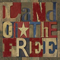 Patriotic Printer Block II Fine Art Print