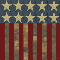 Patriotic Printer Block Flag Fine Art Print