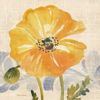 Watercolor Poppies VI Framed Print