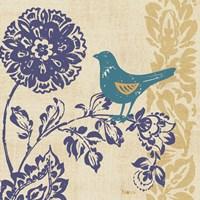 Blue Indigo Bird II Framed Print