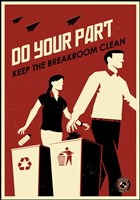 Clean Breakroom Fine Art Print