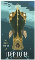 Sail Under The Ice Of Neptune Fine Art Print