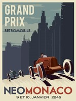 Vintage Car Race Fine Art Print