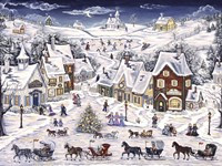 Christmas Sleigh Parade Fine Art Print