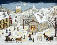 The Children's Christmas Program Fine Art Print