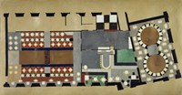 Plan For A Bus Station: Design For The First Floor, 1927 Fine Art Print