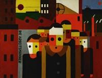 Die Arbeitsmaenner - The Workmen Fine Art Print